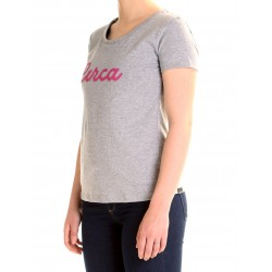 CURLY TEE GIRLS GRIS MELANGE