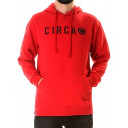 DIN PRIVATE PULLOVER HOOD ROJO