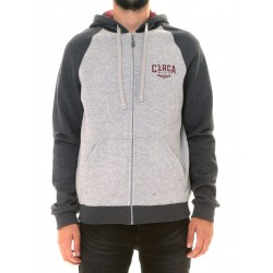 MINI LIGHTNING ZIP HOOD GRIS