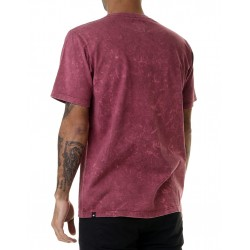 ACID WASH TEE BORDO