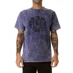 ACID WASH TEE AZUL