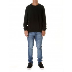 BASIC CREW SWEATER NEGRO