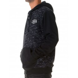 SNAP & PATCH PULLOVER HOOD NEGRO