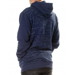 SNAP & PATCH PULLOVER HOOD AZUL MARINO